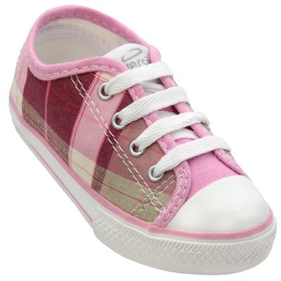 Tênis Infantil Diversão Xadrez Low Pink