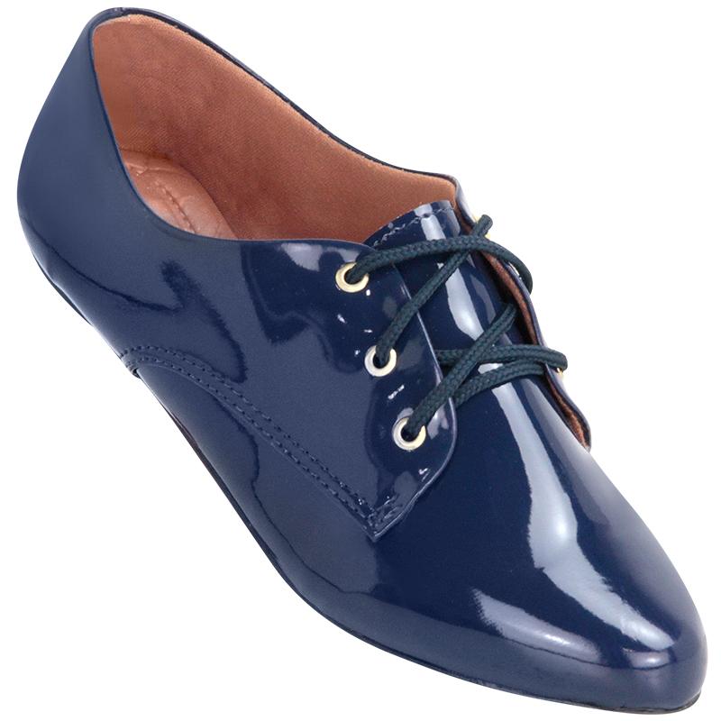 0b1092f013 Sapato Oxford Feminino 4011VZ Azul