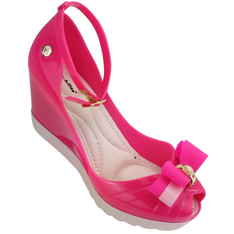 f38131b565 Sandália Peep Toe Pink Miss Miss 10.064