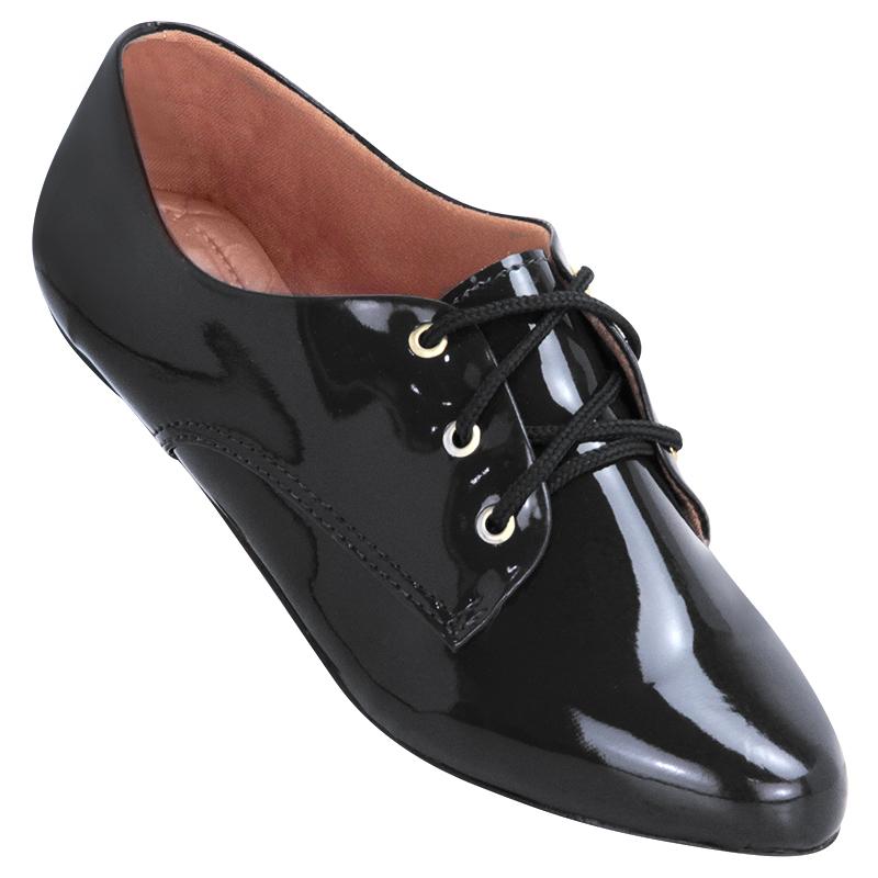 76282970e Sapato Oxford Feminino 4011VZ Preto | Atenas Calçados