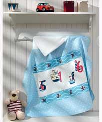Toalha Banho Dohler c/ capuz Baby Nautical