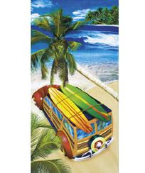Toalha Praia Dohler Velour- Surf Trip - 76x152cm