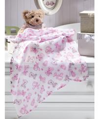Fralda Dohler Estampado - Baby Girl 70 x 70 cm