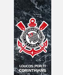 Toalha Praia Dohler Velour - Corinthians 10 - 70X140CM