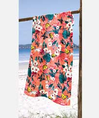 Toalha Praia Dohler Velour - Tropical 02 - 86x162cm