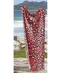 Toalha Praia Dohler Velour - Onça 05 - 76x152cm