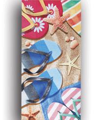 Toalha Praia Dohler Velour Estampado - Sandals - 76x152cm