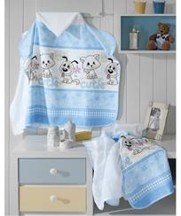 Toalha Banho Dohler c/ Capuz e Fralda - Baby Cutie