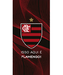 Toalha Praia Dohler Velour - Flamengo 10 - 76x152cm