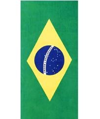 Toalha Praia Dohler Velour - Brasil Flag