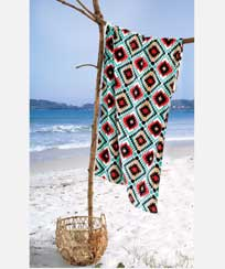 Toalha Praia Dohler Velour - Ikat 01 - 86x162cm