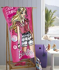 Toalha de Banho Döhler Velour 70cm x 1,30m 100% Algodão - Barbie 23