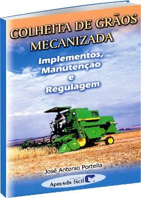 Colheita de grãos mecanizada