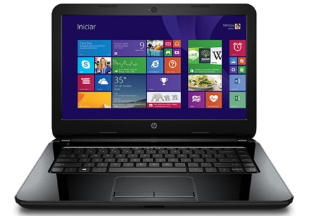 1057034 - Notebook HP 14-R051BR I3 4GB 500HD W8 PT biv