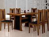 Mesa Sala Rufato Viva 6 Cadeiras