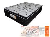Colchão Acoplado Ideal Box Mola Bonnel 138x188x40