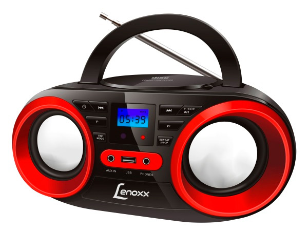 Rádio Lenoxx Boombox com CD BD129 Bivolt