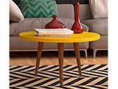 Mesa de Centro Patrimar Legs Amarelo