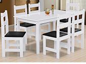 Mesa Sala Arauna Praiana 6 cadeiras Branca