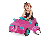 Carro Pedal Mercedes Homeplay 4130 Rosa