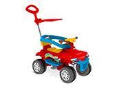 Super Quadriciclo Pedal Capota Bandeirante 476 Vermelho