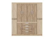 Guarda-Roupa Demobile Realce 8 portas Nogal/Vanilla