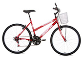 Bicicleta Houston Foxer Maori Aro 26 Feminina Vermelha