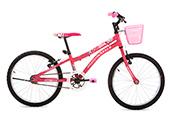 Bicicleta Houston Nina Aro 20 Feminina Rosa