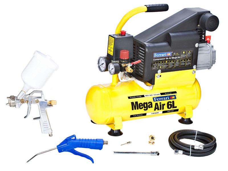 Compressor de ar ferrari 6 litros bivolt zema - Compresor 6 litros ...