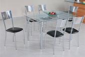 Conjunto Mesa Com 6 Cadeiras Cristal 50256 Modecor