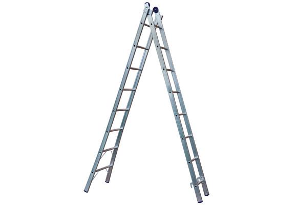 Escada Extensível  8 Degraus Alumínio MOR