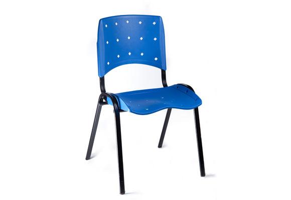 Cadeira plástica fixa Mobicom Azul