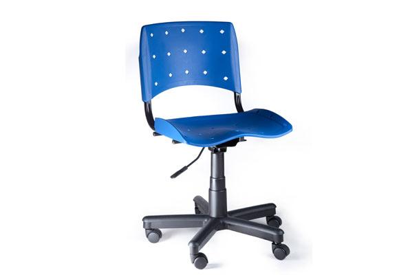 Cadeira Giratória Plástica Mobicom Azul