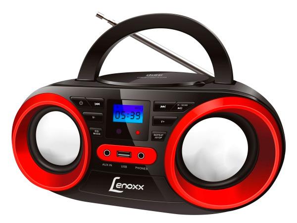 Rádio Lenox Boombox com CD BD129 Bivolt