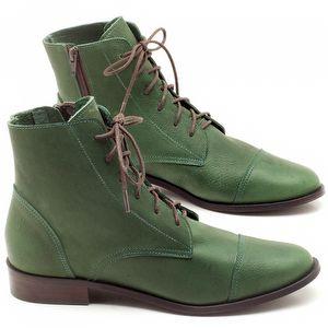 Bota Cano Curto em couro Verde Militar - Código - 9440
