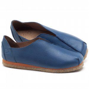 Flat Shoes em couro Azul Bic - Código - 3050