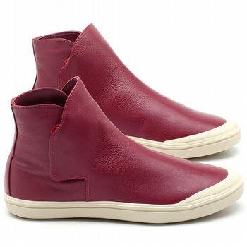 18ac1189b Tênis Cano Alto em couro Rosa Carmim - Código - 56092   Laranja Lima Shoes