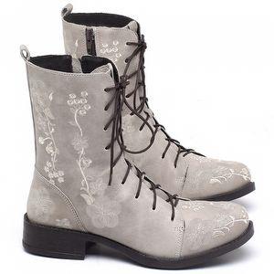 Bota Ankle Boot Bota em couro Off - White - Código - 141084