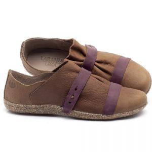 Flat Shoes em couro Marrom Carvalho - Código - 145031