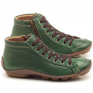 Tênis Cano Alto em couro verde militar - Código - 136030