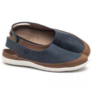 Tênis Cano Baixo em couro azul com marrom - CÓDIGO - 145045
