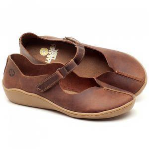 Flat Shoes em couro Marrom Telha - Código - 139024