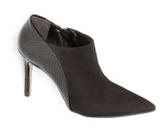 Botas Ankle boot Preta Estampa Croco 101007