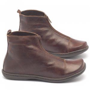 Flat Boot em couro - Código - 56132