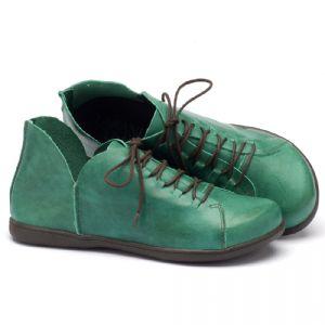 Tênis Cano Baixo em couro verde 137033