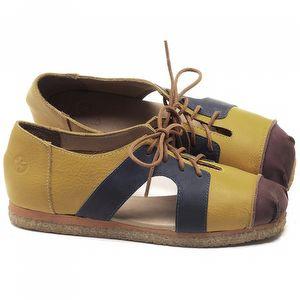 Flat Shoes em couro Amarelo - CÓDIGO - 3054