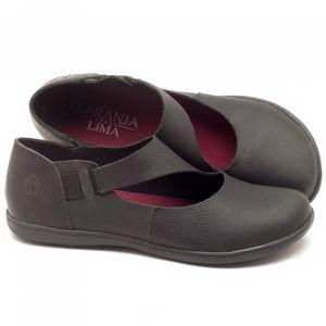 Flat Shoes em couro Preto - Código - 137171