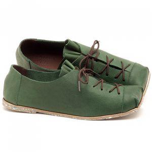Sapatilha Alternativa em couro Verde Militar - Código - 145010