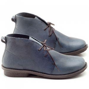 Bota Cano Curto em couro azul - Código - 136055