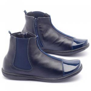 Flat Boot em couro marinho - Código - 56136